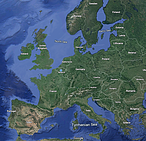 Map of Europe © WWF EPO