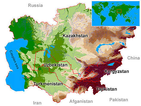 Map of Central Asia rel=