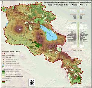 Map of Protected Areas of Armenia