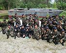 Participants of the Marine Smart Patrol training at Phang-Nga Naval base.