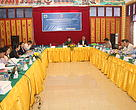 The meeting gets underway in Pakse, Champassak Province