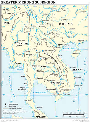 Countries of the Greater Mekong Region / ©: UN Department of Peacekeeping Operations Cartographic Section