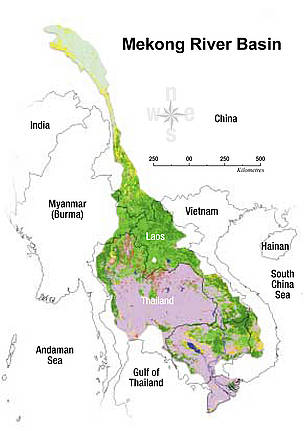 The Mekong River Basin.  	© WWF Greater Mekong
