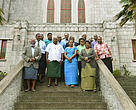 Representatives from the Methodist Church in Fiji, Fiji Locally Managed Marine Areas (FLMMA) and WWF-Pacific after the meeting at the church headquarters.