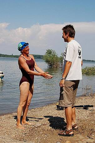 Mimi Hughes swims the Danube