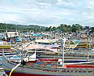 Fishing boats in Mindoro, the Philippines