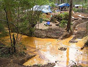 Mine site pollution in Cambodia