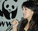 Newly appointed WWF Nepal Conservation Ambassador, Sitashma Chand.