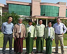Pete Cutter, Hung Nguyen Quoc and Utin Than with officials from Myanmar's Ministry of Environmental Conservation and Forestry.