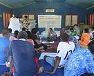 Participants at the workshop in one of the villages in Nailaga district