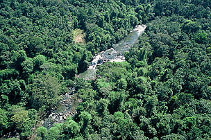 Aerial view of Khao Yai National Park, Thailand Aerial patrols over Thailands oldest national park by the forestry department, part of on-going efforts to eliminate hunting and extraction of wildlife, Khao Yai National Park, Thailand. TRAFFIC Asia