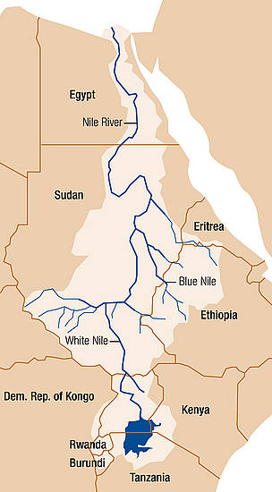 Nile River basin  	© WWF