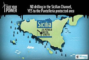 No to oil drilling  	© WWF Italy
