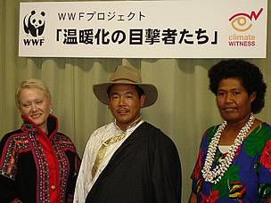 Norbu Sherpa at the Climate Witness Symposium in Tokyo, Japan in 2005