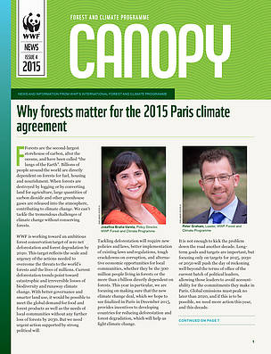 © Cover: CANOPY (issue 4, 2015): quarterly news from WWF's global Forest and Climate Programme
