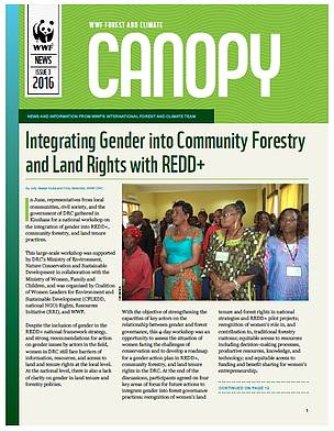 CANOPY (issue 3, 2016): biannual news from WWF Forest and Climate