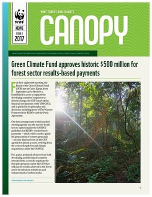 CANOPY (issue 2, 2017): biannual news from WWF Forest and Climate