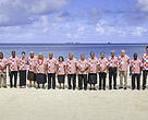 Heads of Pacific Island States pose for an official photograph during the 50th Pacific Island Leaders Forum.