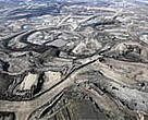 Stripped mining landscape in Canada