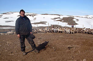 Olav is a Sami reindeer herder in northern Norway. Climate change has made it difficult for reindeer to access food, as increased winter rains freezes and forms a shield over the lichen.