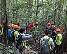 The workshop included a field visit to provide hands-on experience around stationed-camera traps and plot-based vegetation calculations done by WWF-Indonesia in the PT. Ratah Timber concession area.