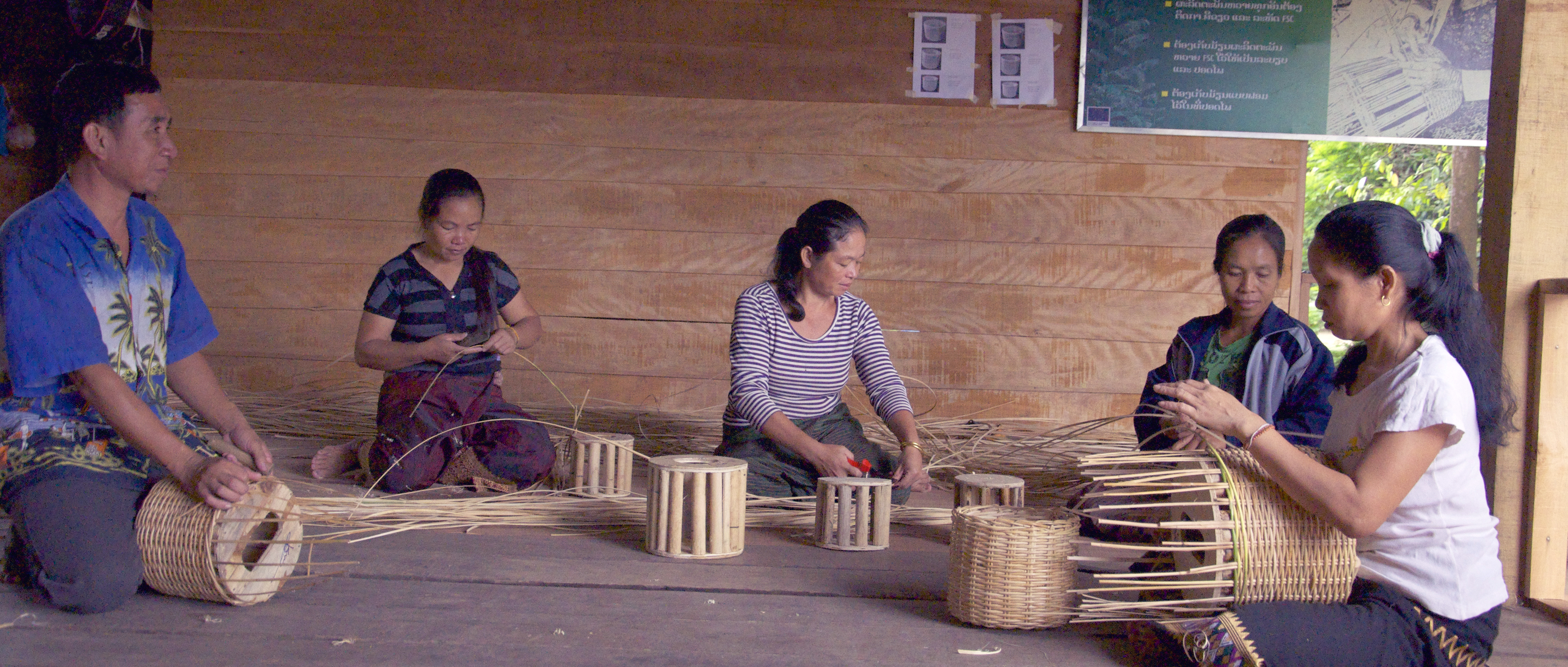 Basket Weaving Example Of Which Industry : Lao rattan industry gets certified to access the global