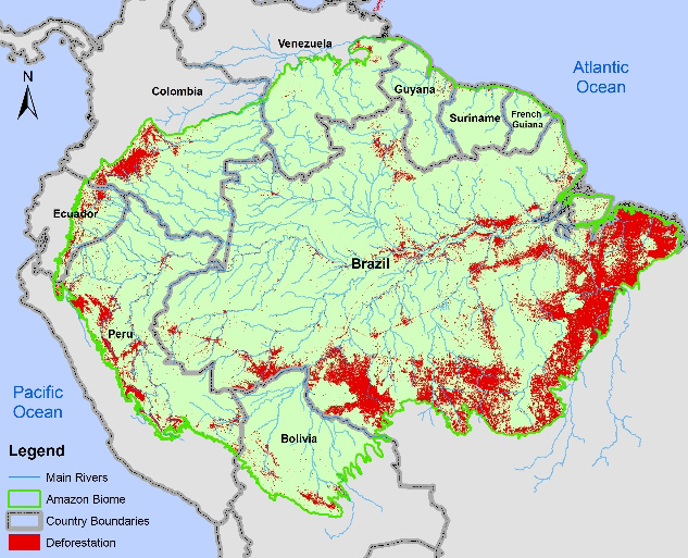 causes and solutions for deforestation in the amazon basin of south america The amazon basin region of south america includes the world's largest tropical rainforest and is home to almost 400 indigenous groups 1 today, the exploitation of.