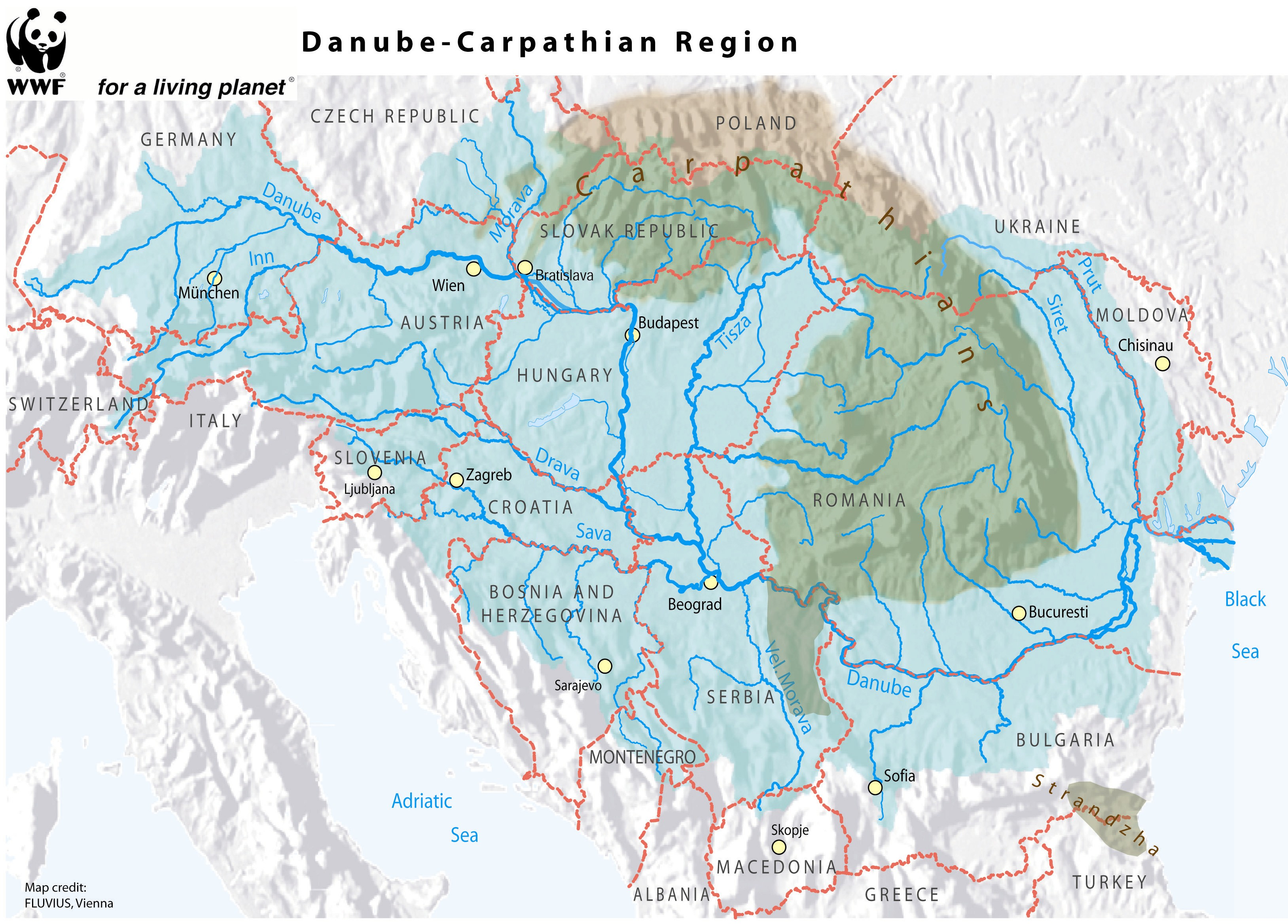 Carpathian Mountains On World Map.The Carpathian Convention At 10 On The Map But Much Left To Do Wwf