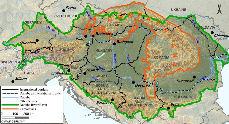EU Danube Strategy To Promote Basinwide Development WWF - Danube river location on world map