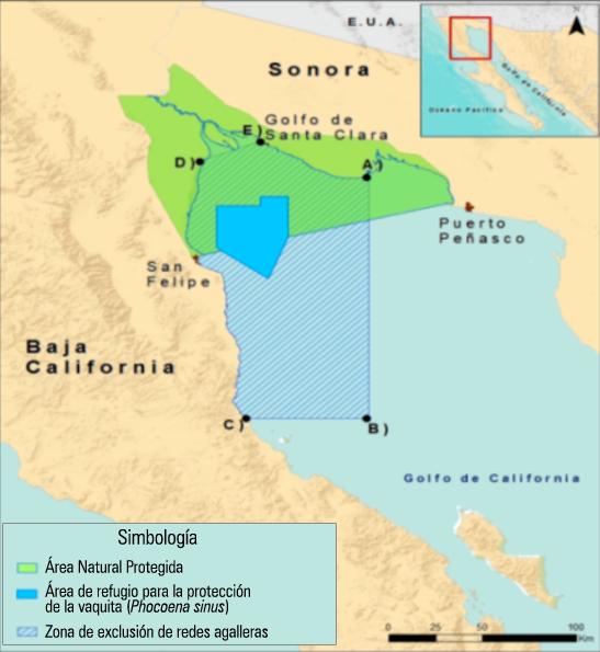 Cancellation Of Gillnet Fisheries In The Upper Gulf Of California - Mapa de california