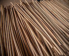 Rattan canes at the Danlao Company factory in Vientiane Province, Laos.