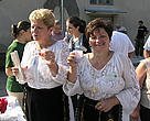 Some of the visitors to the Lower Danube fair came in their traditional dress.
