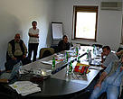 Team members discussing MAVA programme in the Caucasus