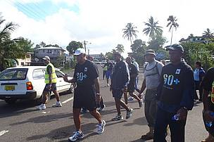 Along Rewa Street - the second half of the 15k walk
