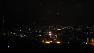 Panoramic view of Yerevan (after lights out)