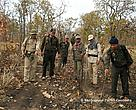 Patrol by enforcement members inside Mondulkiri Protected Forest.