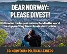 Sign the global call for Norway to end coal investments