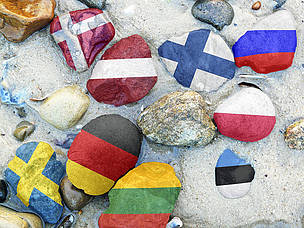 Nine countries surround the Baltic Sea - Denmark, Estonia, Finland, Germany, Latvia, Lithuania, Poland, Russia and Sweden