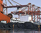 Coal loading site in the Tianjin habour on the Yellow Sea