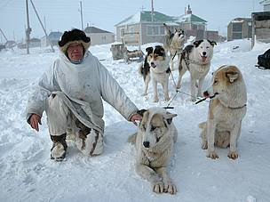 Vlad Kavry and his sled dog team.