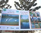 Hoarding board displaying the message of World Wetlands Day at Babar Mahal, Kathmandu