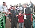 WWF, HSBC and the mayor of Tatev cutting the ribbon to inaugurate the programme.