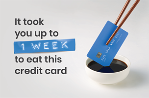 Could you be eating a credit card a week?