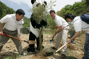 Bamboo planting ceremony / ©: WWF China