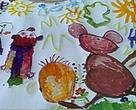 Drawing by kindergarten students.<BR>