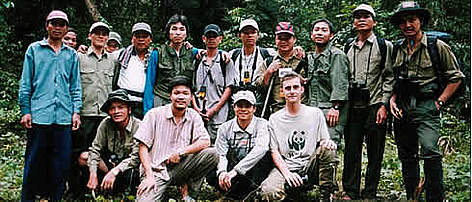 The MOSAIC Primate Team and trainers during field survey training. rel=
