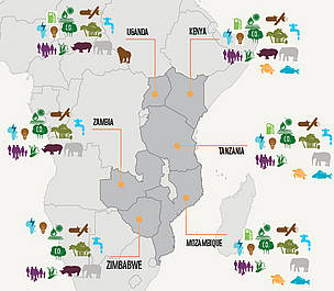 Conservation issues in the WWF-ESARPO region / ©: WWF-ESARPO