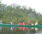 Returning to Meliau (West Kalimantan) by long boat through Danau Sentarum