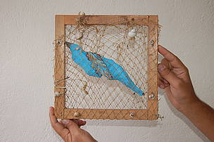 blue bird applied art