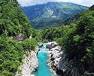 Riverbed of the Soca river, Slovenia